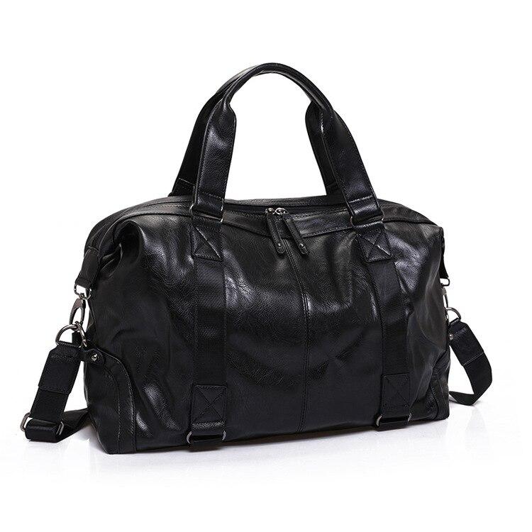 2019 nowych przyjazdowych skóra Split torby turystyczne dla mężczyzn duża pojemność przenośne mężczyzna torby na ramię męskie torebki na co dzień torba podróżna w Torby podróżne od Bagaże i torby na  Grupa 1