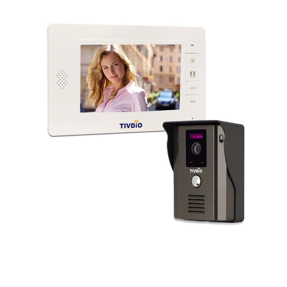 TIVDIO T 11D 7 Color LCD Video Door Phone System Wired Visual Intercom IR Camera Doorbell Doorphone For Home Apartment F9504B