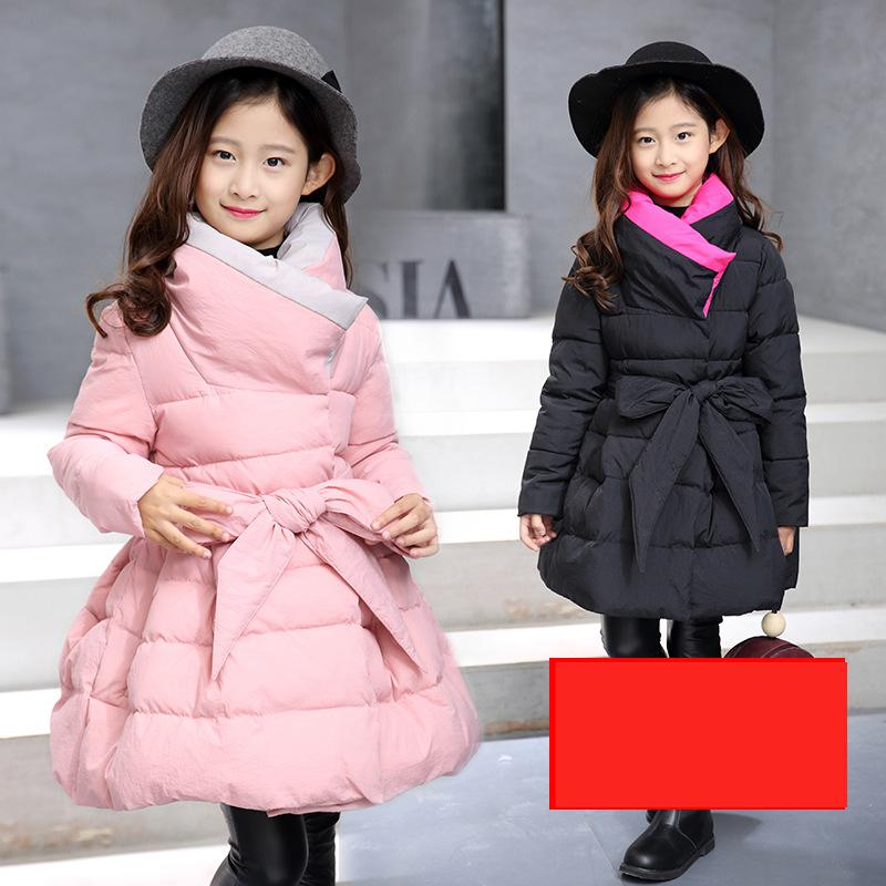 2018 Toddler Girls Winter Clothing Coat Baby Girls Warm Coat Child Thicken Leisure Cotton-padded Parkas Coats Jackets 10 12 Year new 2017 men winter black jacket parka warm coat with hood mens cotton padded jackets coats jaqueta masculina plus size nswt015