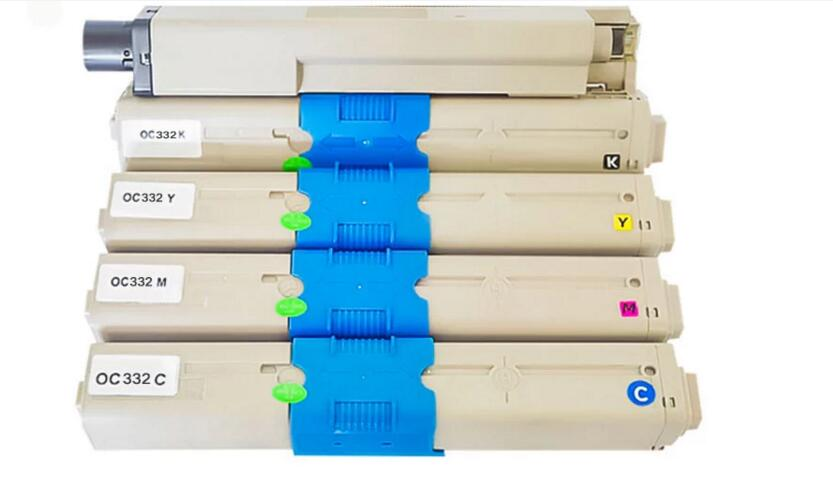 4pc lot new color Toner kit c332 printer toner Compatible for OKI C332 MC363 C332dn copier