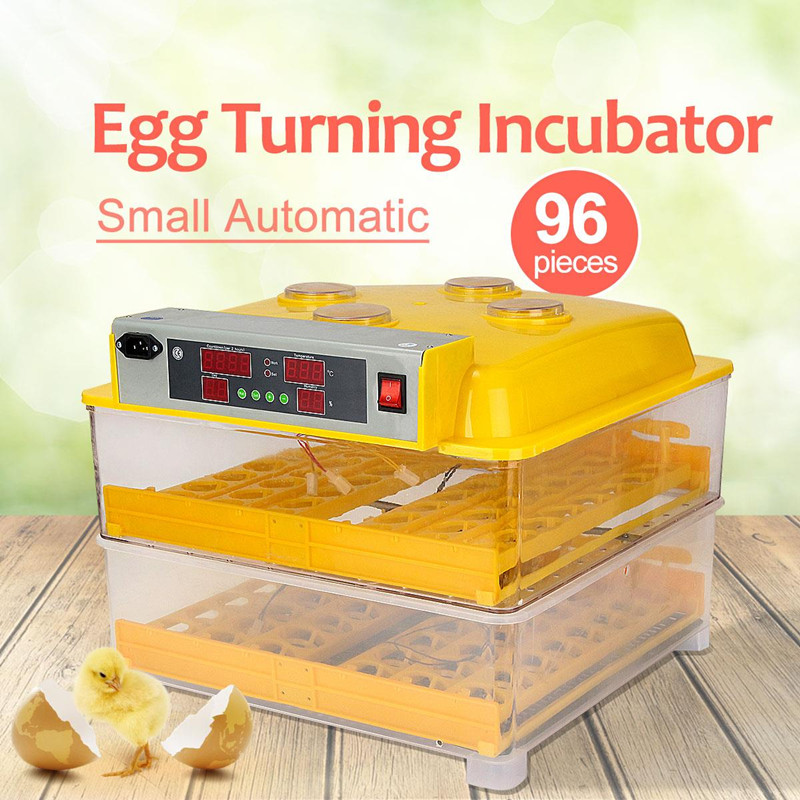 Hot Sale 96 Egg Digital Automatic Egg Turning Incubators Hatcher Brooder Poultry Chicken Egg Incubator Machine best price mgehr1212 2 slot cutter external grooving tool holder turning tool no insert hot sale brand new