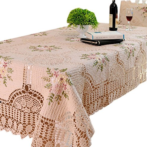 FADFAY Handmade Tablecloths Hand Crochet Dining Table Cloth Embroidery  Floral Rectangle Tea Table Cloth Table Cover Doilies In Tablecloths From  Home ...