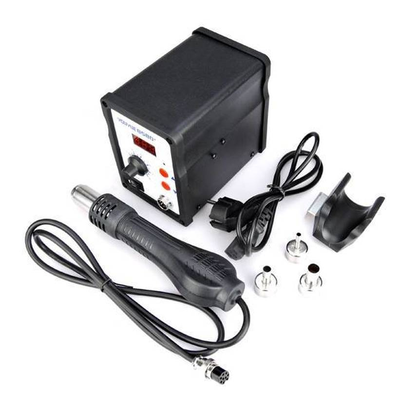 NEW Youyue 858D+ Hot Air Gun ESD Soldering Station LED Digital Desoldering Station 700W heater gun Upgrade from Uyue 858D hot air gun host does not include accessories 700w youyue 858d esd soldering station heat gun desoldering station host