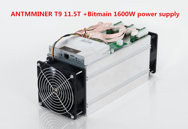 AntMiner T9 11.5THs Bitcoin Miner include power supply 16nm BTC Mining machine Power Consumption 1450w BETTER THAN ANTMINER S7 in Servers from