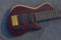 Free Shipping Factory direct sale China Custom Shop 7 String Electric Bass Guitars Gold Hardware Bass for sale
