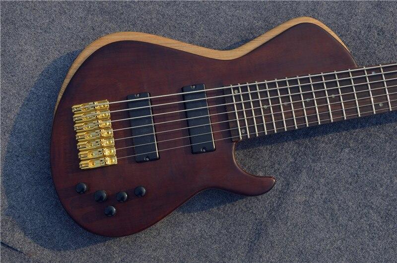 Livraison Gratuite Usine vente directe Chine Custom Shop 7 Chaîne Basse Électrique Guitares Or Basses Matériel pour vente