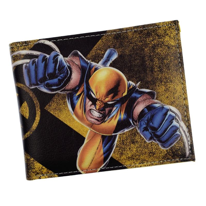 HOT X - MEN Wallet Marvel Avengers Super Hero Cartoon Purse Student Credit Card Holder Wallet Short Wolverin XMEN Wallet Gift