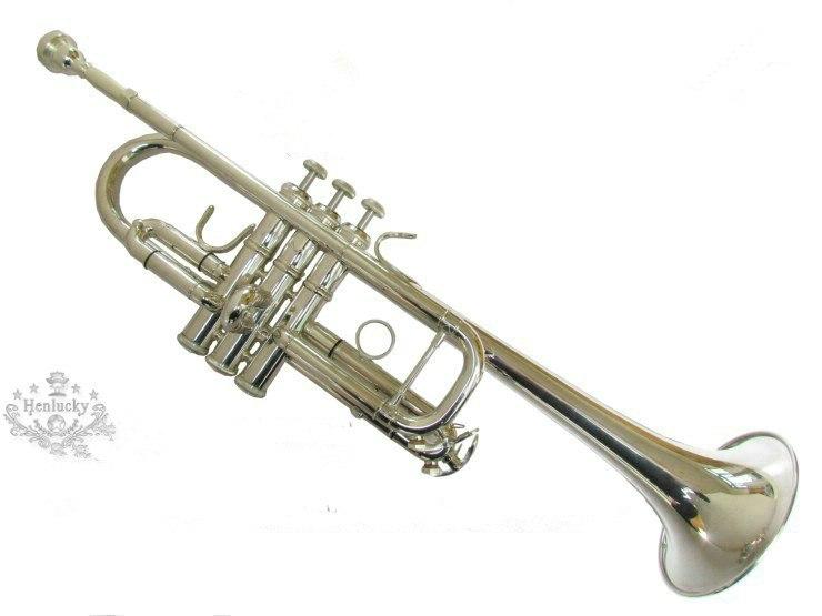 Original Henlucky HTR 6332C Silver Plated Vincent Bach C Tone Professional Major Trumpet font b Musical