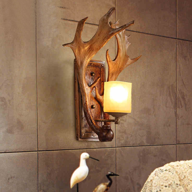 American wall lamp rural locations cafe bars restoring ancient ways lamps and lanterns stairs creative berth lamp antlers