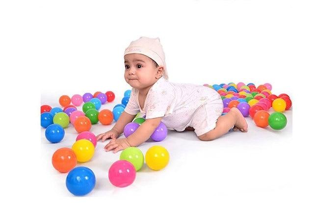 50 Pcs Set Colorful Kids Toy Ball Color Random Color Plastics Round