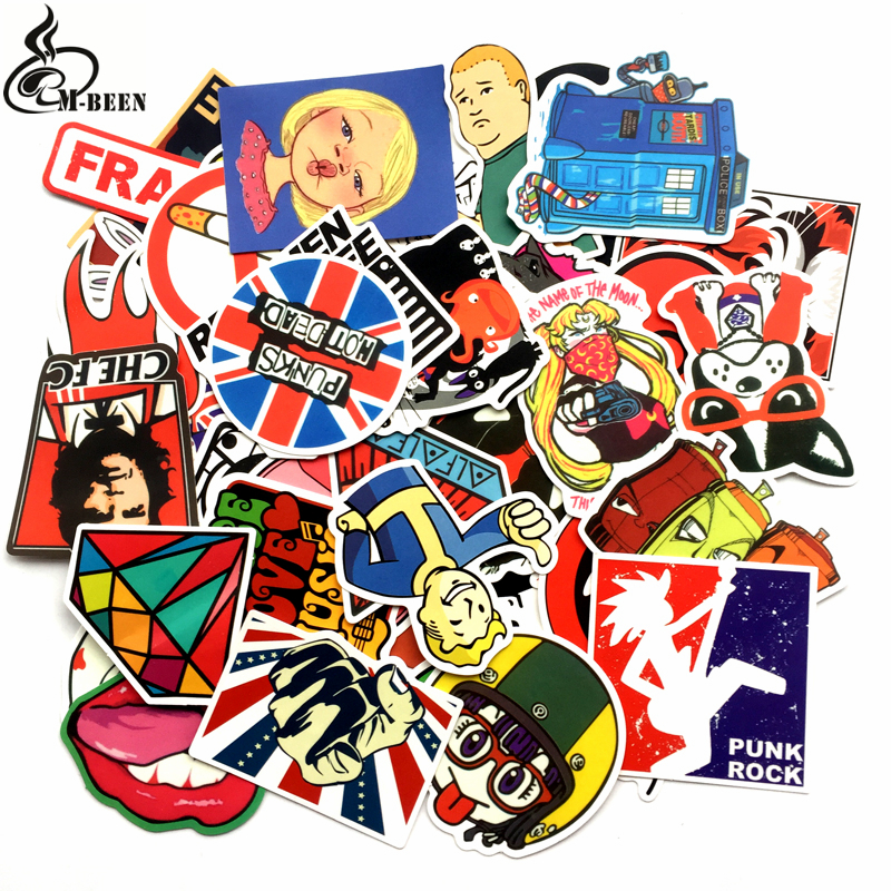 50pcs lot retro diamond fallout sticker notebook suitcase refrigerator skateboard trolley case table waterproof diy decals gift in stickers from toys