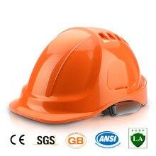 Защитный шлем жесткая шляпа Рабочая крышка ABS материал конструкция защитные шлемы высокое качество дышащий инженерный энергетический шлем
