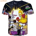 summer T-shirts men  the simpsons short sleeve t shirt cheap clothes o-neck