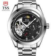 TSS mens relojes de primeras marcas de lujo Superficie de Zafiro resistente al agua reloj de los hombres luminosos de pulsera mecánico automático relojes para hombres