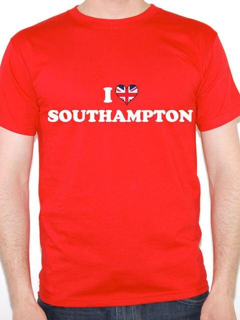 0c220580 Really Cool T Shirts Short Sleeve Gift Crew Neck Mens I Love Southampton Uk  England Britain