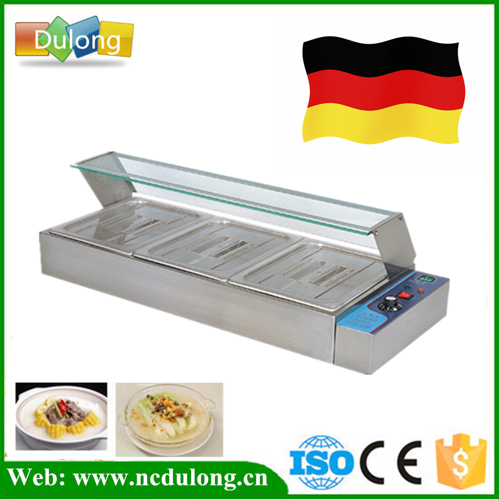 fast Ship from Germany Cheap stainless steel Bain Marie table top bain marie buffee food warmer electric food container fast food leisure fast food equipment stainless steel gas fryer 3l spanish churro maker machine