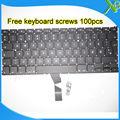 """5 UNIDS-A Estrenar Dinamarca DK teclado + 100 unids tornillos del teclado Para MacBook Air 13.3 """"A1466 A1369 2010-2015 Años"""