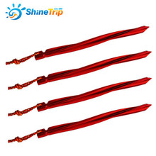 10pcs ShineTrip 25cm Strong Spiral Triangular Tent Nail Aluminium Alloy Stake with Rope Camping Equipment Outdoor Sandbeach