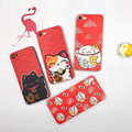 Lucky Cat Japanese Pattern Soft Case for iPhone 6 6s 6plus 7 7 Plus TPU Cover