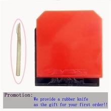 Ett stykke 2,15 mm kviser-i bordtennis gummi med svamptennisbord limmet med gummikutter som gave