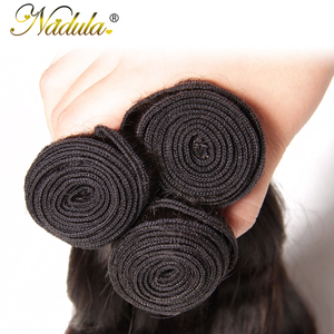 Image 5 - Nadula שיער 7A פרואני שיער חבילות עם סגירת 4*4 תחרה שוויצרית סגר עם גוף גל שיער טבעי Weave רמי שיער טבעי צבע