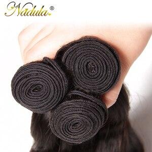 Image 5 - Nadulaผม7A Peruvian Hair Bundlesกับ4*4สวิสลูกไม้ปิดBody Waveมนุษย์ผมสานremyผมสีธรรมชาติ