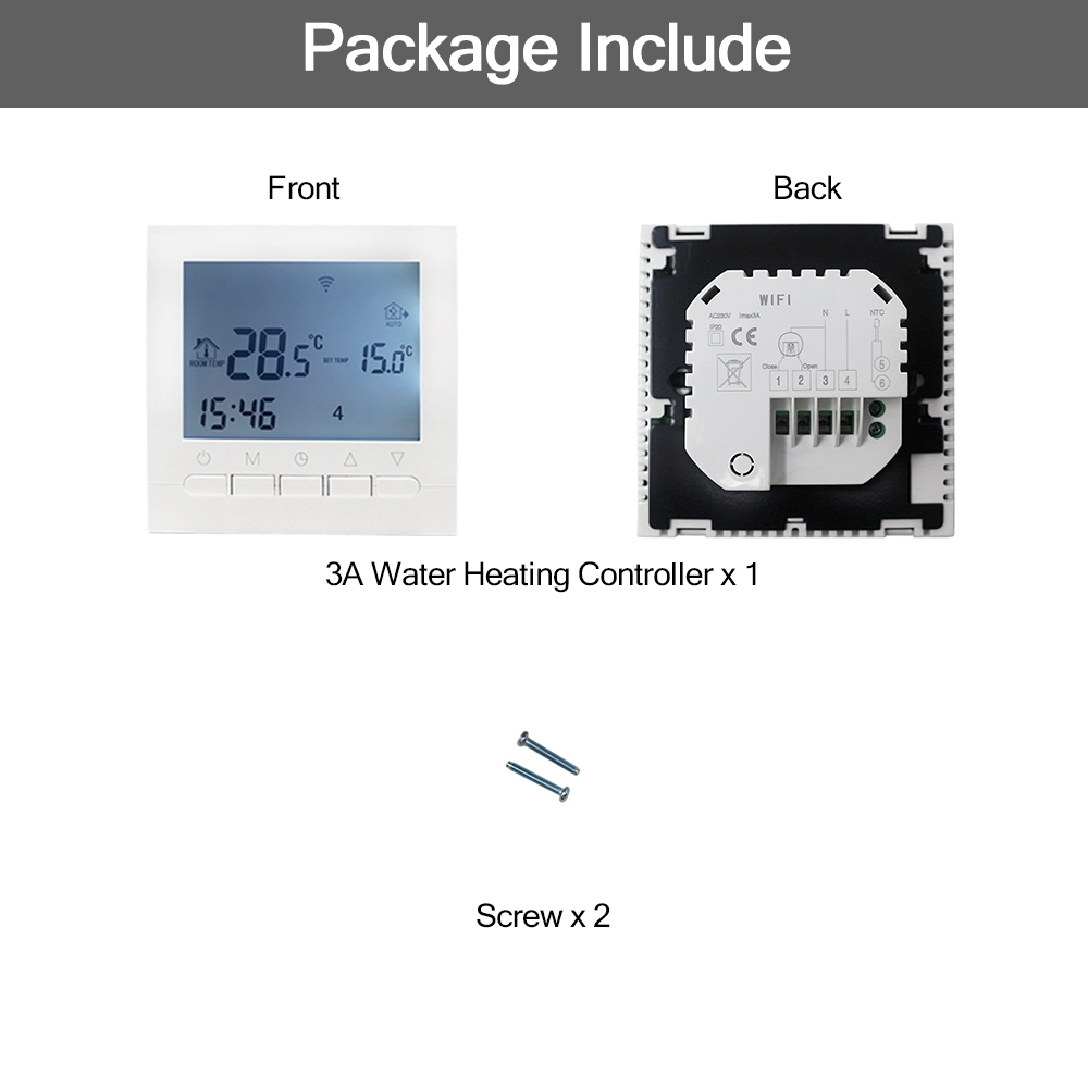 Image 5 - 16A AC 220V WIFI Heating Thermostat Water/Electric Heating System WIFI Thermostat APP Controls for Warm Floor-in Temperature Instruments from Tools