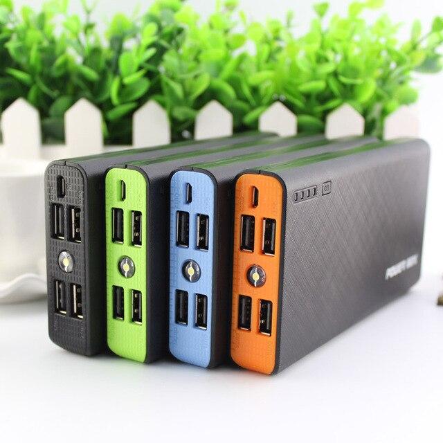 DCAE Мобильный Банк Питания 15000 мАч 4-USB Внешняя Батарея Универсальное Зарядное Устройство Powerbank с 1 м кабель micro usb Для samsung xiaomi