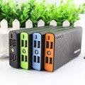Dcae 4-usb carregador universal de bateria externa banco de potência 15000 mah móvel powerbank com 1 m cabo micro usb para samsung xiaomi