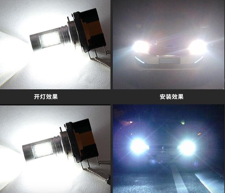 6000 К 3000 К H15 светодиодные лампы противотуманной для Ауд-я A5/a6 Q7 BM-W 2 серии Benz GLK VW Гольф/GTI для дальнего света DRL дневные Бег свет