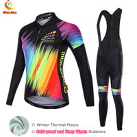Malciklo Gorgeous Winter Cycling Jersey Women Long Sleeve Cycling Clothing Fleece Bike Wear Clothes Ropa Ciclismo Invierno