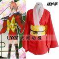 Japón anime nueva gintama cosplay del Kagura Kimono para las niñas mujeres disfraces de halloween