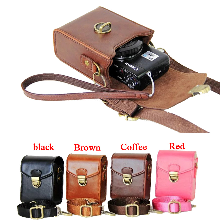 New PU Leather Camera Case For Canon G9X G7X G7X II SX710 SX700 SX720 S95 S90 SX260 SX240 SX275 S90 S120 S110 SX610 SX400
