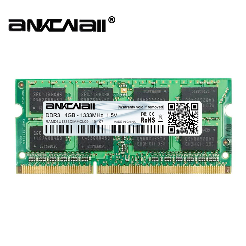 New DDR2 <font><b>DDR3</b></font> 2GB/4GB /8G RAM 667 800 1333 <font><b>1600</b></font> 186MHz PC3 10600S Laptop <font><b>PC</b></font> DIMM Memory 204pins For Intel System High Compatible image