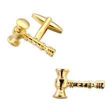 Tool Engineer high quality brass material gold hammer Cufflinks shirt cuff Cufflinks men's jewelry wholesale and retail