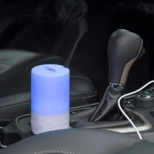 DC 5V 100ML Car USB Essential Oil Aroma Diffuser Mini Air Purifier 7 Color Changing LED Light Ultrasonic Aromatherapy Humidifier