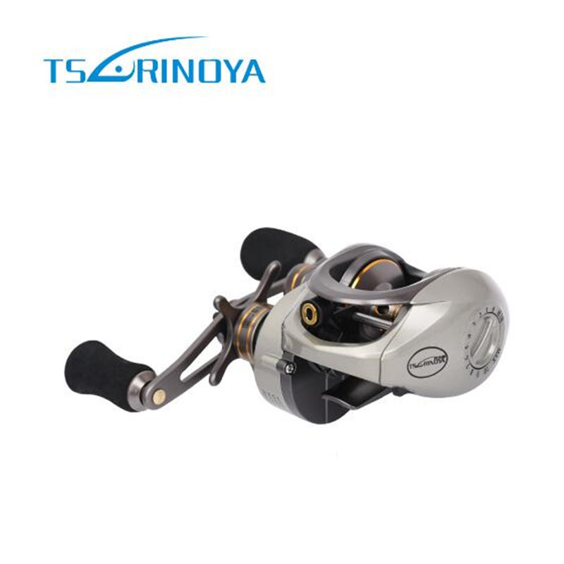 Tsurinoya Baitcasting Fishing Reel 9+1BB/6.6:1 Steering-wheel Fishing Reels Moulinet Peche Max Drag 6 KG Carp Reel Molinetes trolling reel 9 1bb drum wheel carp baitcasting reels centrifugal brake casting saltwater fishing reel super power drag 30kg