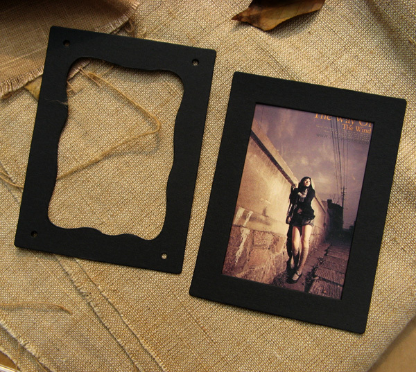 Us 5 95 12 Di Sconto 10 Pz Lotto Cartone Appeso Cornici Album Di Foto Nero Marrone Photo Frame Cornice Cornice Fai Da Te 15 11 3 Cm Photo Wall In