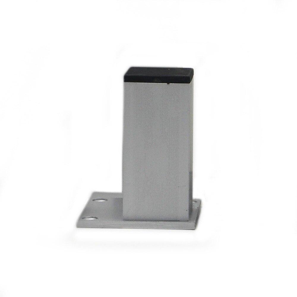 4pcs 10cm Aluminum Cabinet Feet Table Metal Furniture Legs Square Stand Base with Screws naierdi 5cm 30cm furniture adjustable cabinet legs stainless steel table sofa metal foot with screws home improvement hardware