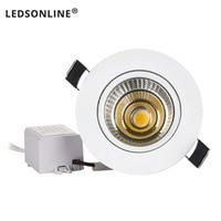 Mini luz descendente LED COB de 3W, 5W, 10W, punto de luz empotrada regulable, lo mejor para techo, hogar, oficina, hotel, 110V, 220V, novedad