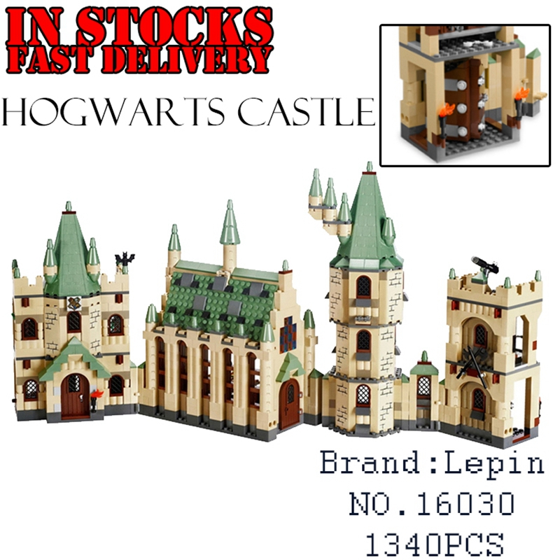 Lepin 16030 1340pcs Harry Potter The Hogwarts Castle Building Blocks Bricks Compatible 4842 Educational Toy for children gifts lepin 16030 1340pcs movie series hogwarts city model building blocks bricks toys for children pirate caribbean gift