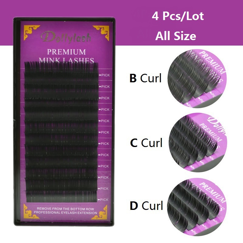 2634aa46abd 12lines Faux mink individual eyelash lashes maquiagem cilios for  professionals soft eyelash extension