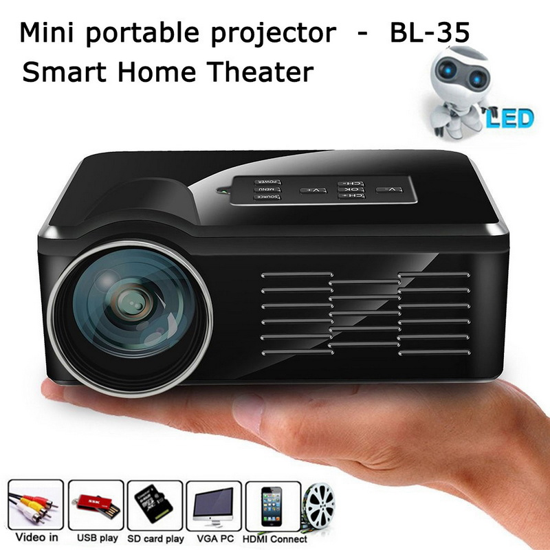 Mini led projector bl 35 portable for Hd video projector