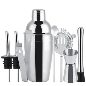 EECOO 8Pcs Stainless Steel Set Drink Bartender Home Bar