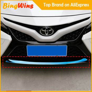 Car Front Bottom Bumper Molding Grill Trim Front Bumper Lip Cover Strip Auto Accessories For Toyota 8th Camry 2017 2018