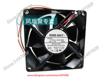 Free Shipping For NMB  3110KL-04W-B89, E00  DC 12V 0.46A 3-wire 3-pin connector 80mm 80X80X25mm Server Square fan