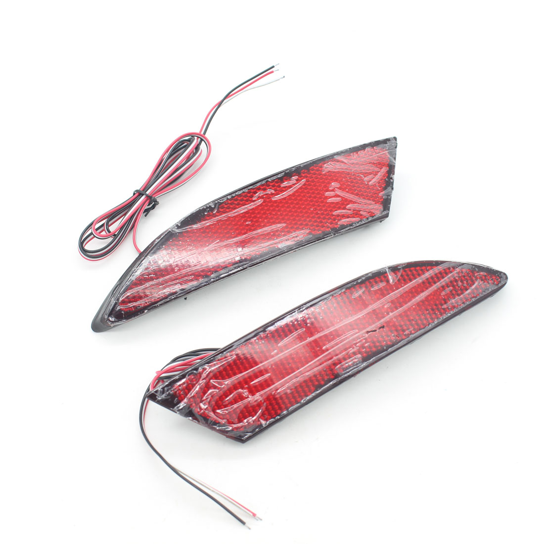 Dongzhen Fit For Focus 2012 Car Accessories LED Red Rear Bumper Reflectors Light Brake Parking Warning Night Running Tail Lights 2pcs red rear bumper reflectors light brake parking warning night runing tail lamps led for honda odyssey 2007