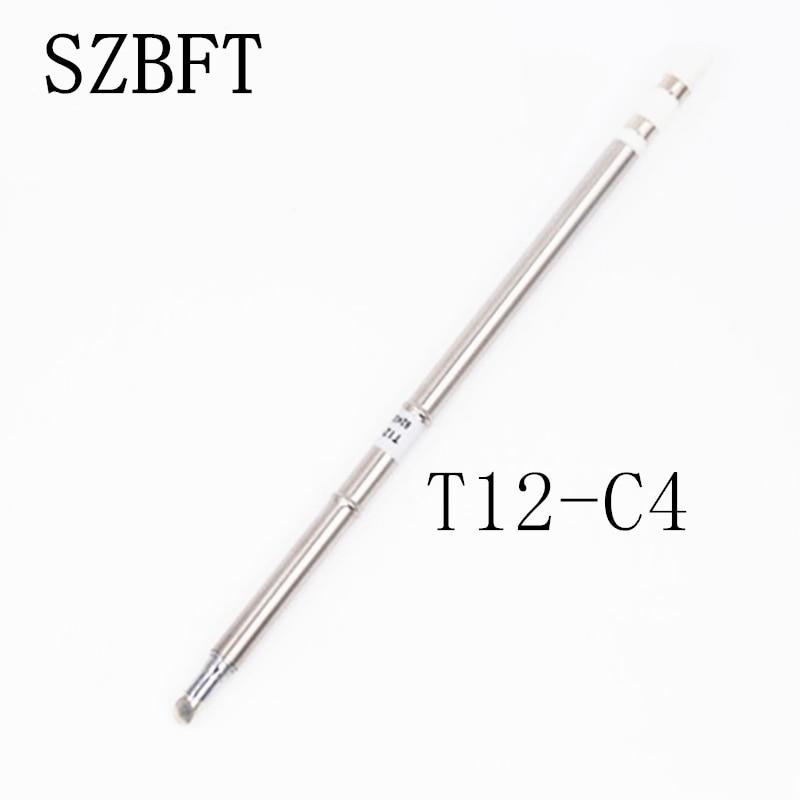SZBFT 1 pz Per stazione di saldatura Hakko t12 T12-C4 Ferri da saldatura elettrici Punte per saldatura per stazione FX-950 / FX-951