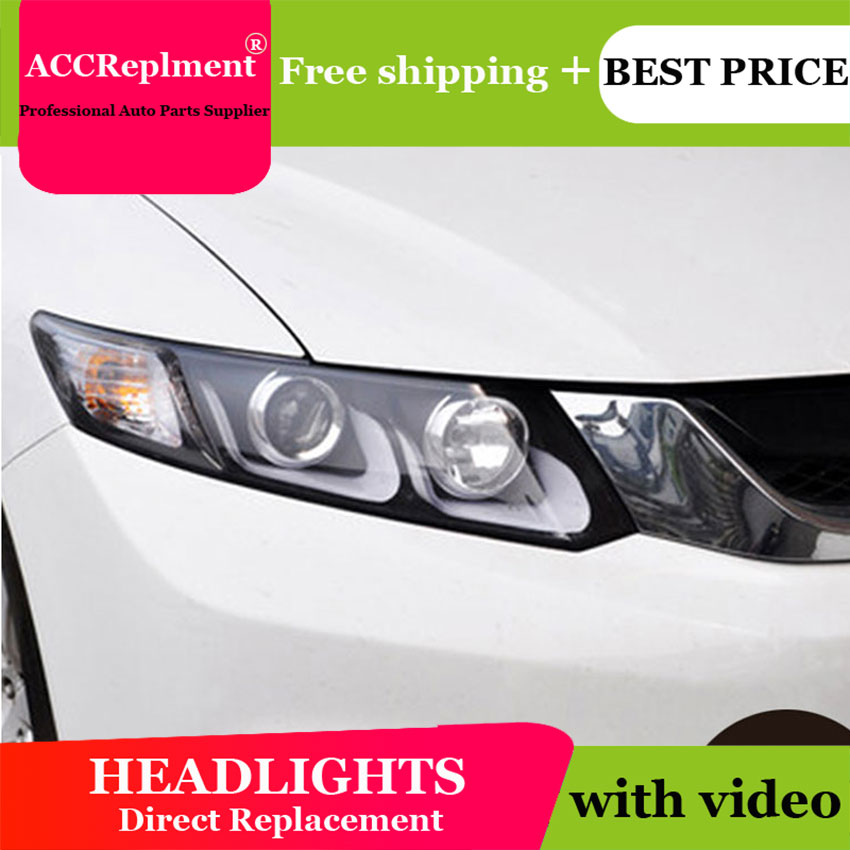 Car Styling LED Head Lamp for Honda Civic headlights 2012-2014 New Civic LED drl H7 hid Q5 Bi-Xenon Lens low beam hireno car styling headlamp for 2011 15 honda civic headlight assembly led drl angel lens double beam hid xenon 2pcs