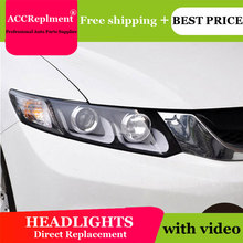 Car Styling LED Head Lamp for Honda Civic headlights 2012-2014 New Civic LED drl H7 hid Q5 Bi-Xenon Lens low beam цена в Москве и Питере